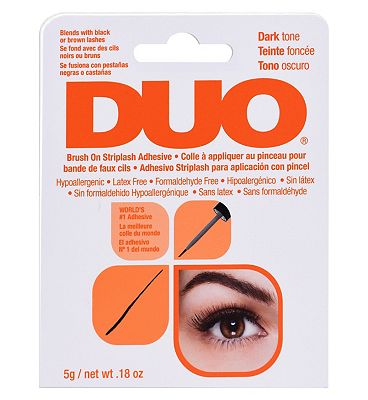 DUO Brush On Striplash Adhesive with Vitamins Dark (5g)