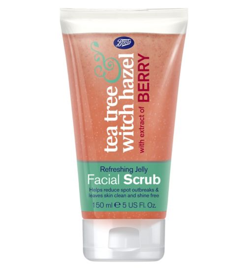 Boots Tea Tree & Witch Hazel Refreshing Jelly Facial Scrub 150ml