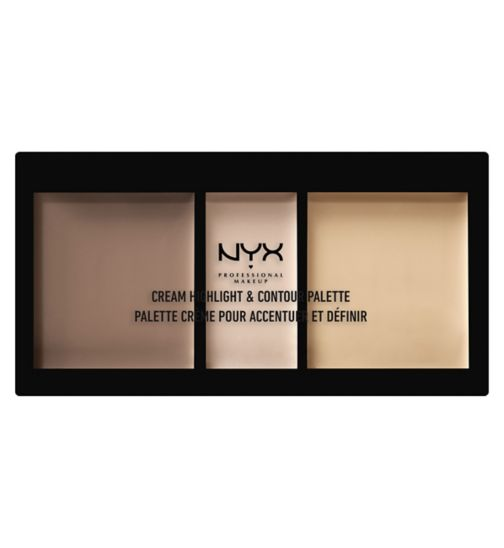 NYX Professional Makeup Cream Highlight & Contour Palette - Light
