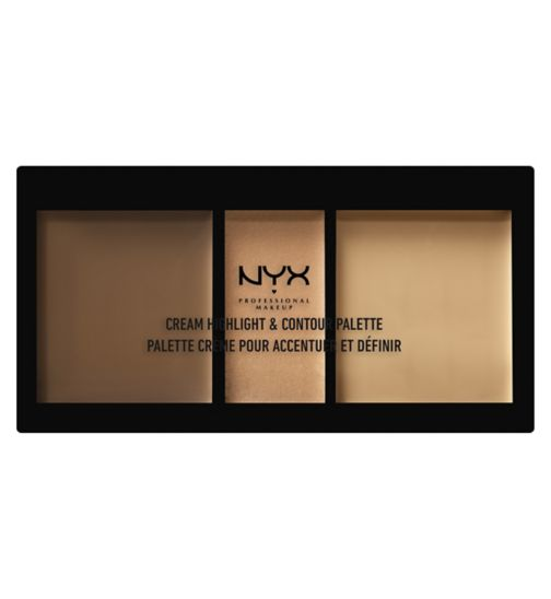 NYX Professional Makeup Cream Highlight & Contour Palette - Medium