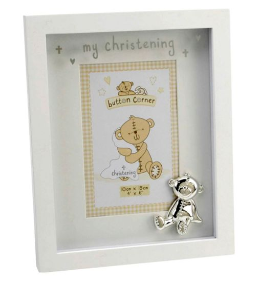Button Corner my christening photo frame 10x15cm 4x6