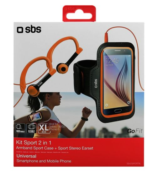 SBS Sport Earphones And Armband