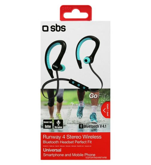 SBS Runway Bluetooth Sports Earphones