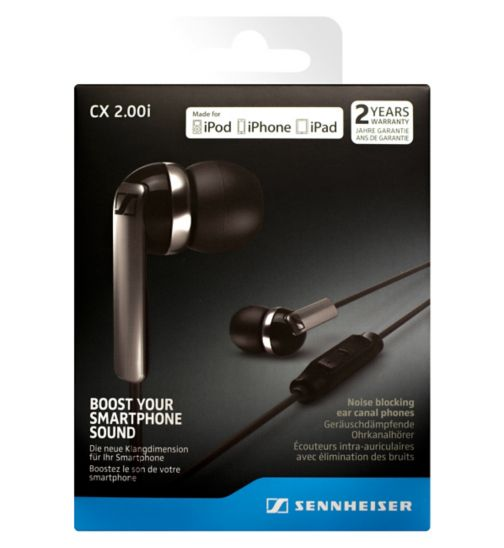 Sennheiser CX2 Earphone With Mic For iOS Black