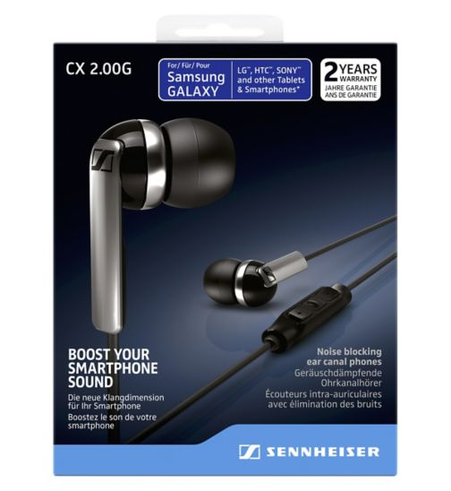Sennheiser CX2 Earphones With Mic For Android Black