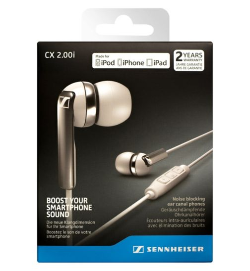 Sennheiser CX2 Earphones with Mic For ios White