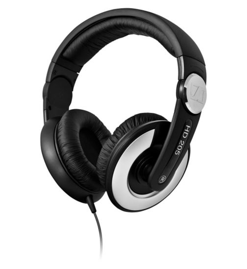 Sennheiser HD205ii Over Ear Headphones Black