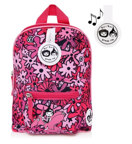 Zip & Zoe Floral Pink Mini Backpack