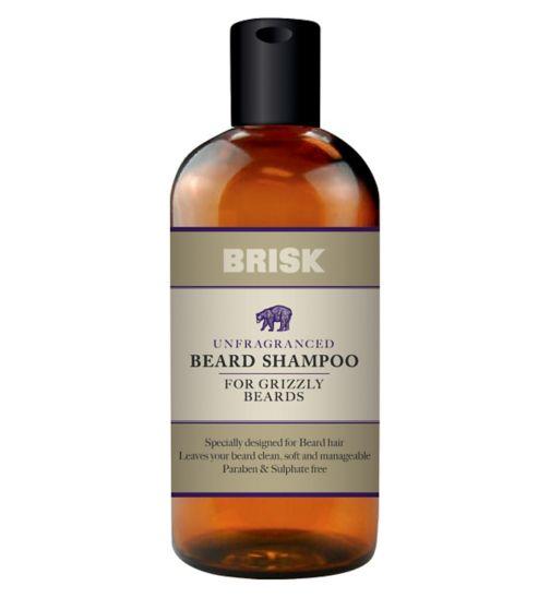 Brisk Unfragranced Beard Shampoo 150ml