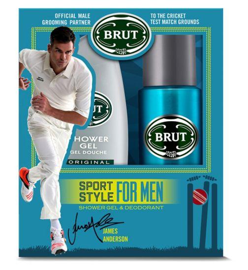 BRUT Sport Style Shower Gel 250ml & Deodorant 200ml Gift Set