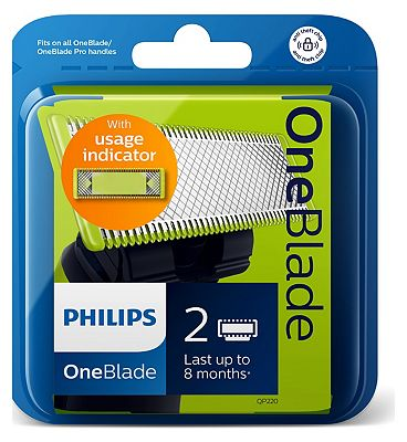 Image of Philips OneBlade QP220 replacement blade 2-pack