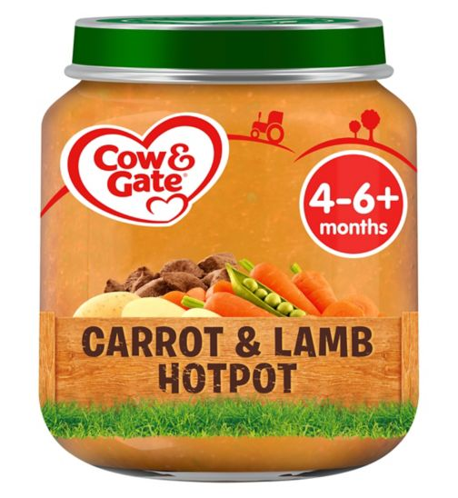 Cow & Gate Carrot & Lamb Hotpot from 4-6m Onwards 125g