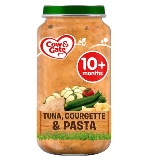 Cow & Gate Courgette & Tuna Pasta from 10m Onwards 250g