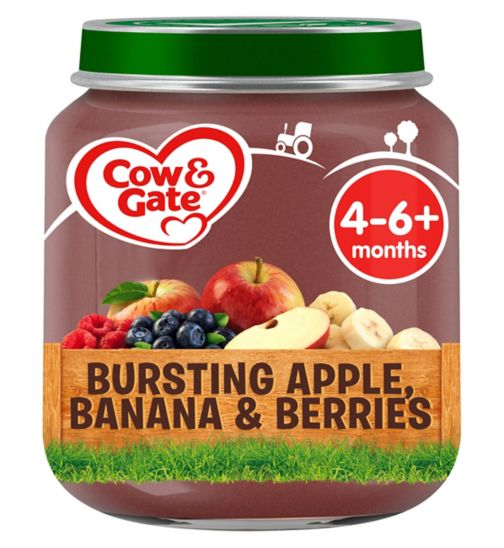 Cow & Gate Bursting Apple, Banana & Berries from 4-6m Onwards 125g