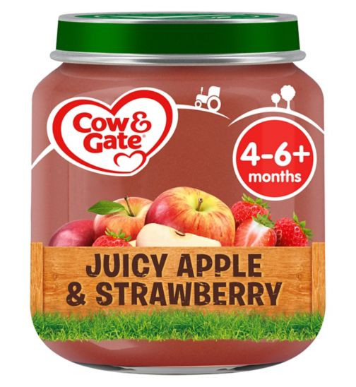 Cow & Gate Juicy Apple & Strawberry from 4-6m Onwards 125g