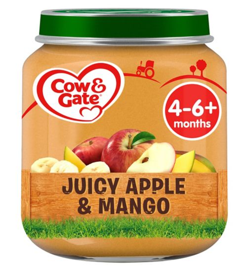 Cow & Gate Juicy Apple & Mango from 4-6m Onwards 125g