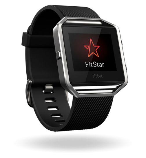 Fitbit Blaze Fitness Super Watch - Black/Silver (Small)