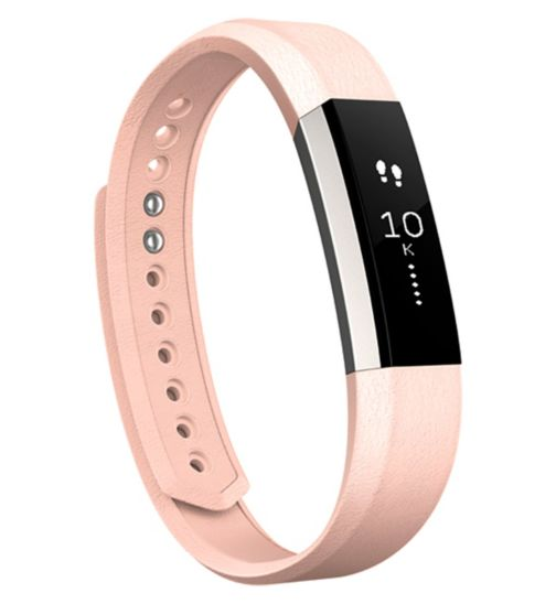 Fitbit Alta Fitness Wristband Leather Accessory Band - Blush Pink (Large)