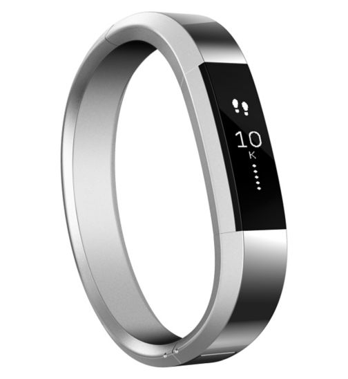 Fitbit Alta Fitness Wristband Metal Accessory Band - Silver (Small)