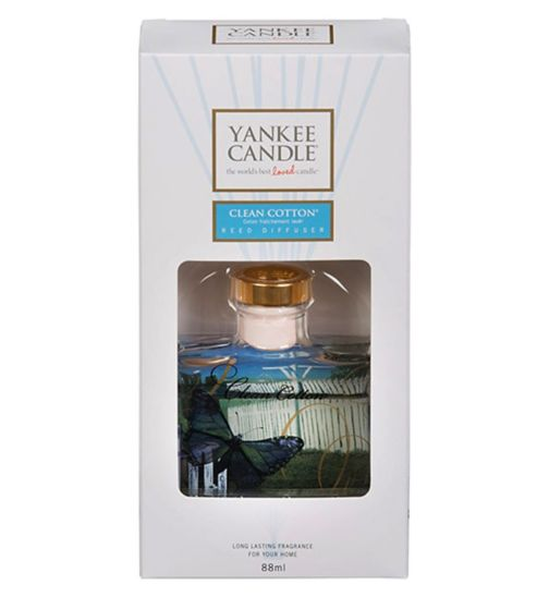 Yankee Reed Diffuser Clean Cotton 88ml
