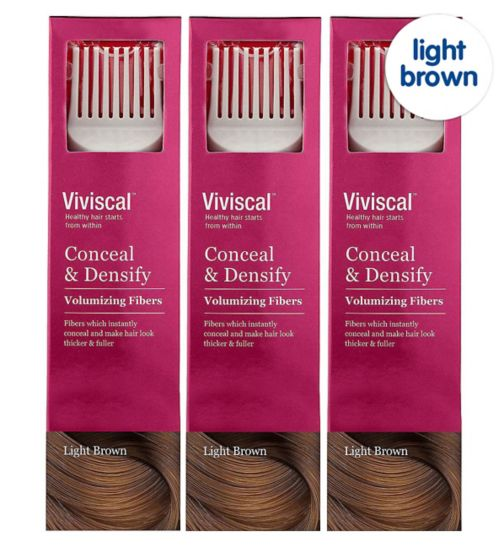Viviscal Conceal & Densify Volumizing Hair Fibres - Light Brown;Viviscal Conceal & Densify Volumizing Hair Fibres - Light Brown (3 pack);Viviscal Hair  Fibres female  light brow