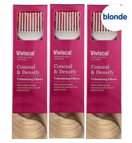 Viviscal Conceal & Densify Volumizing Hair Fibres - Blonde;Viviscal Conceal & Densify Volumizing Hair Fibres - Blonde (3 pack);Viviscal Hair  Fibres female  blonde