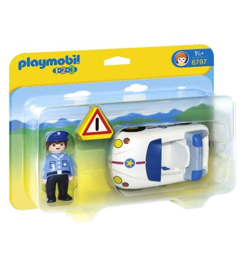 Playmobil 1.2.3 Police Car