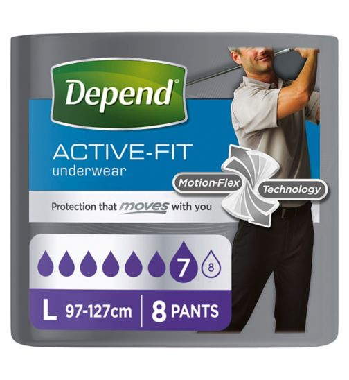 Depend Real Fit Pants for Men Large - 8 Pants