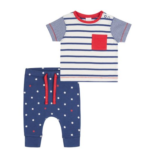 Mini Club Baby Boys Top and Jogger Set Blue