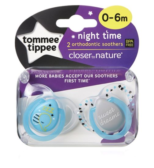 Tommee Tippee Night Time Soother 0-6 months