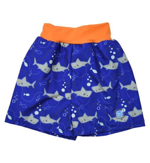 Splash About Happy Nappy Board Swim Shorts Shark Orange (X Large) - 12-24 Months