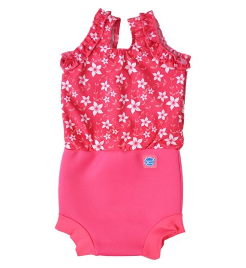 Splash About Swimming Happy Nappy Costume Pink Blossom (Large) 6-14 Months