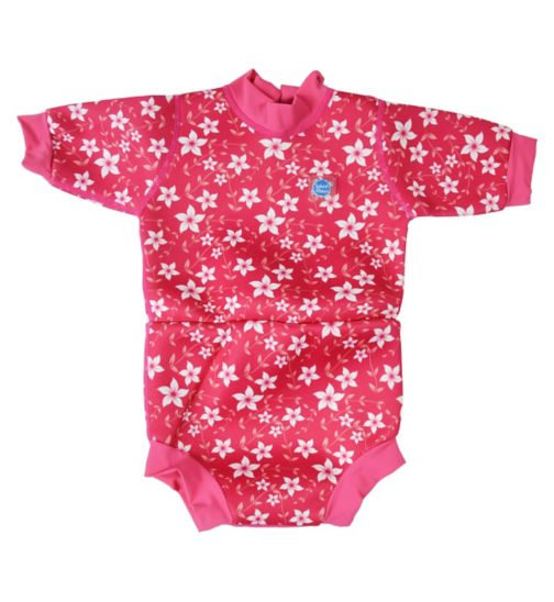 Splash About Happy Nappy Swimming Wetsuit Pink Blossom (X Large) 12-24 Months