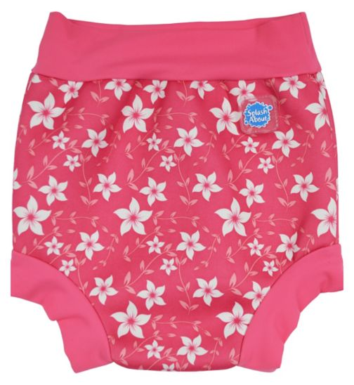 Splash About Happy Nappy Swim Pink Blossom (X Large) 12-24 Months