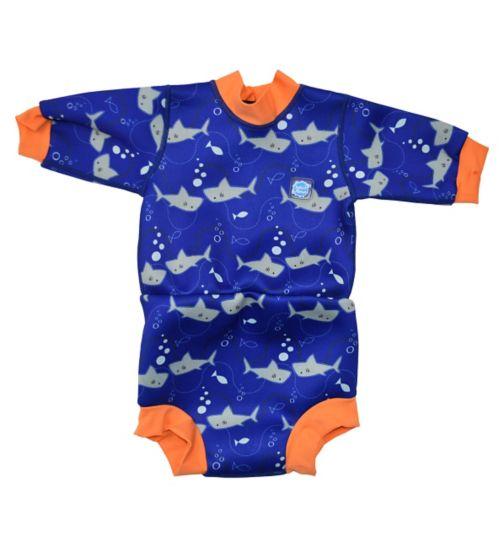 Splash About Happy Nappy Swimming Wetsuit Shark Orange (Medium) 3-8 Months