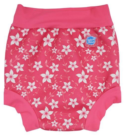 Splash About Happy Nappy Swim Pink Blossom (Medium) 3-8 Months