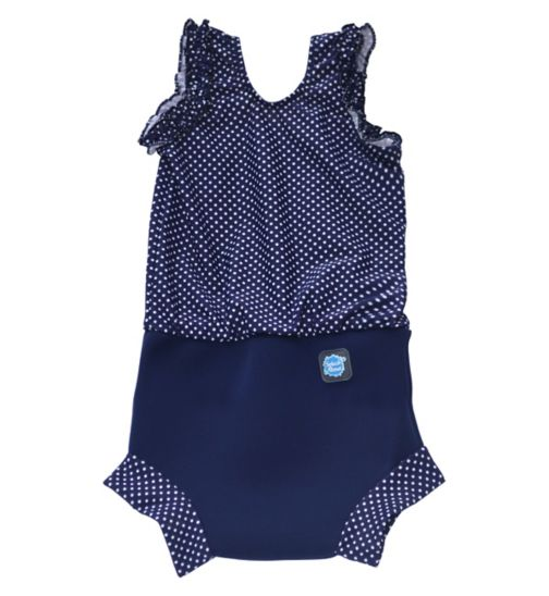Splash About Swimming Happy Nappy Costume Navy (Large) 6-14 Months