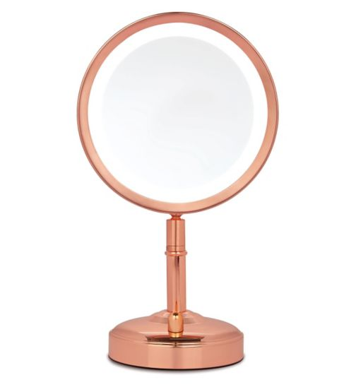 No7 Rose Gold Illuminated Makeup Mirror Exclusive To Boots