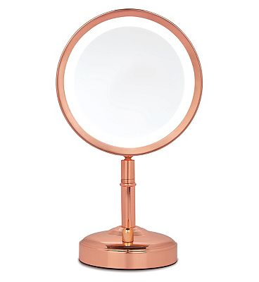 Image of No7 Rose Gold Illuminated Makeup Mirror - Exclusive to Boots