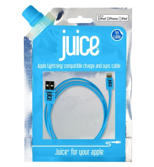 Juice Lightning Data Cable - Blue