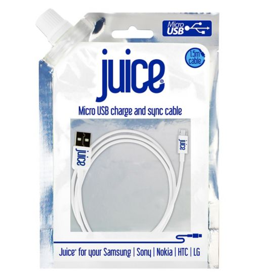 Juice Micro USB Data Cable -White