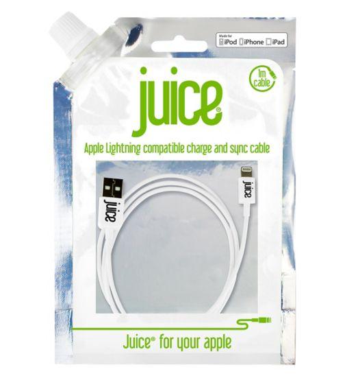 Juice Lightning Data Cable - White