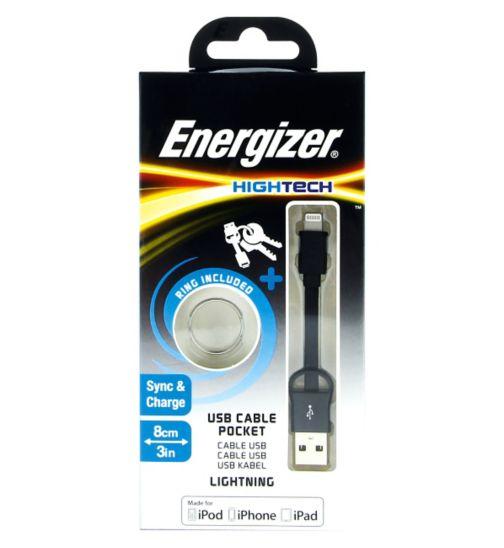 Energizer Lightning Pocket Cable 8cm Black
