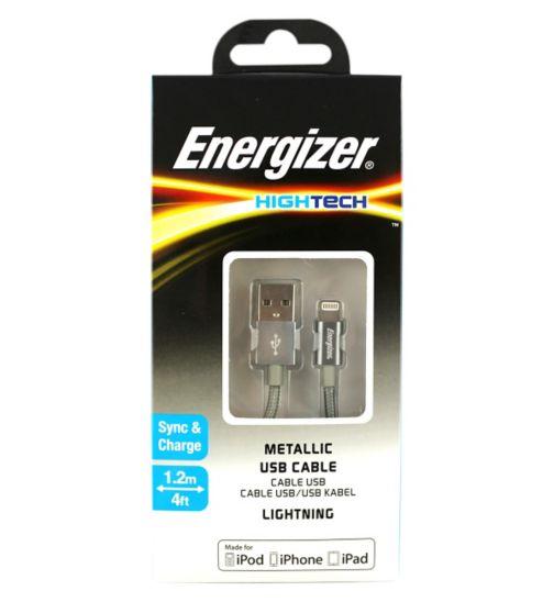 Energizer Lightning Metallic Corded Grey