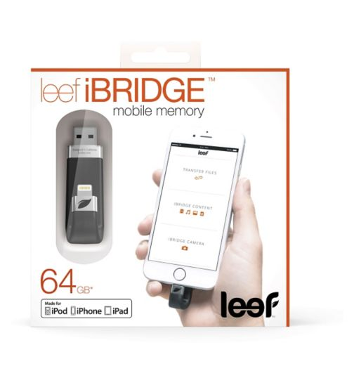Leef ibridge 64GB Memory Storage - Black