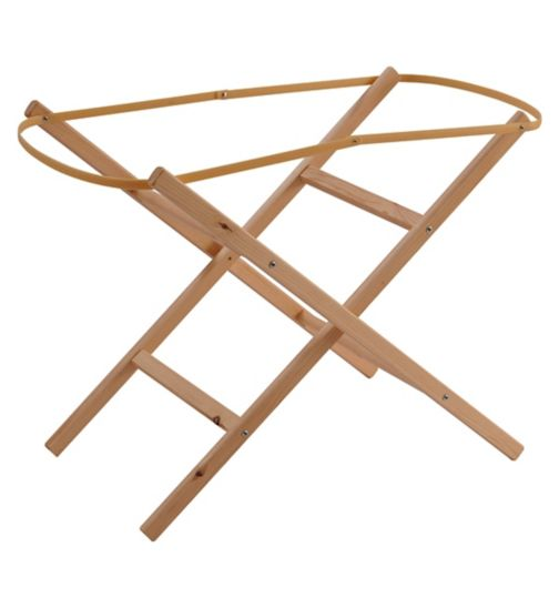 Clair de Lune Ready Assembled Folding Moses Stand - Natural Finish