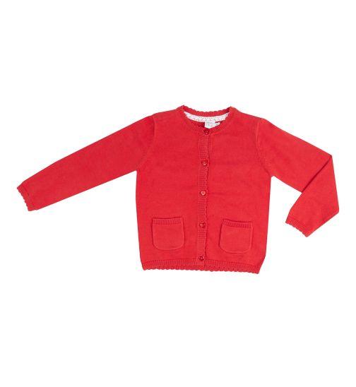 Mini Club Girls Red Cardigan