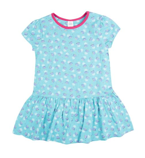 Mini Club Girls Turquoise Blue Flower Tunic