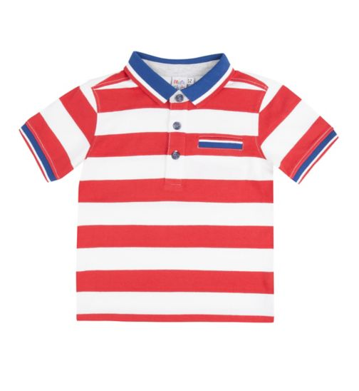 Mini Club Boys Polo Red Stripe