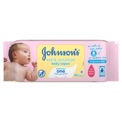 Johnson's® Baby Wipes Extra Sensitive Baby Wipes 56 pack